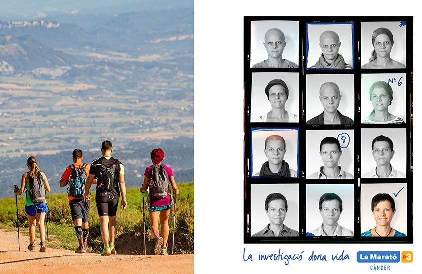 Imatge Marató TV3 2018 gent caminant