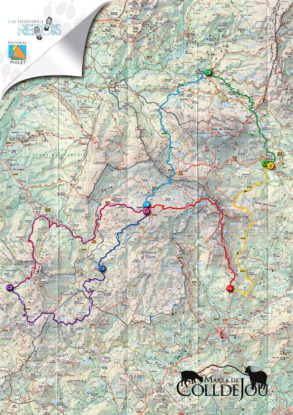 Mapa marxa Colldejou 2010